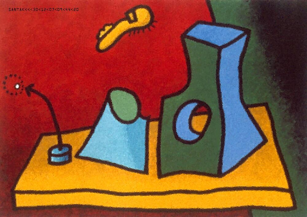 Still life of surrealist objects pt1 by santakaoss