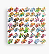Take away fast food isolated truck Metal Print