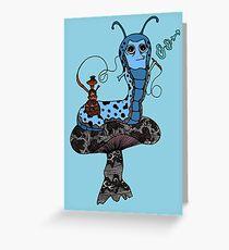 Hookah Smoking Catterpillar V3.0 Greeting Card