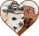 Doggo Stickers: Cowboy Chihuahua by Elisecv