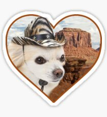 Pegatina Etiquetas engomadas de Doggo: Chihuahua del vaquero
