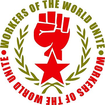 Workers of the World Red Star and Fist by NeoFaction