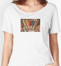 Colorful Book Spines Women's Relaxed Fit T-Shirt