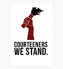 Courteeners We Stand. Flare design Photographic Print