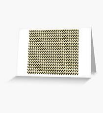 Gold, Black and White Triangle Geometric Design Greeting Card