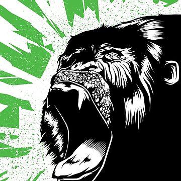 Black Gorilla by katramerstudio