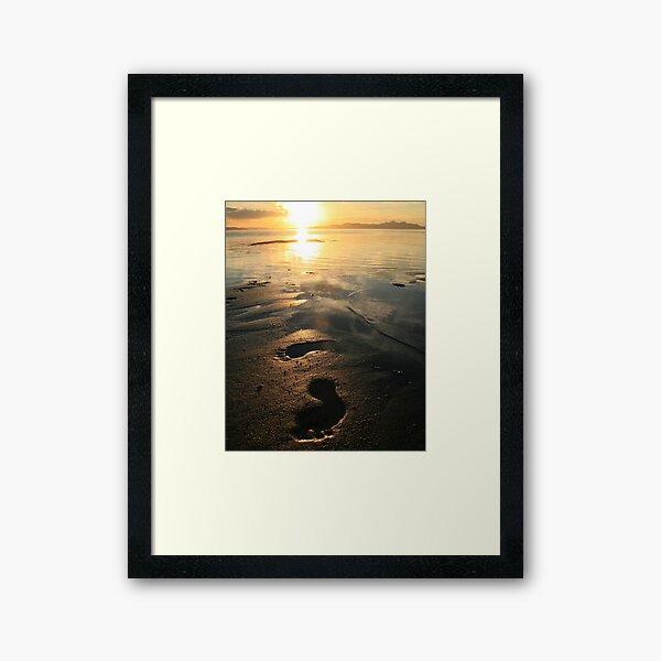A Walk In The Sand Framed Art Print
