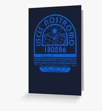 Nostromo Logo - Alien - Prometheus Greeting Card