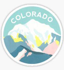 Colorado Mountain Circle Sticker