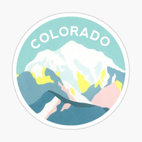 Colorado Mountain Circle Sticker