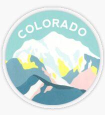 Colorado Mountain Circle Transparent Sticker