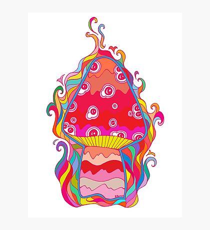 Psychedelic Mushroom Photographic Print