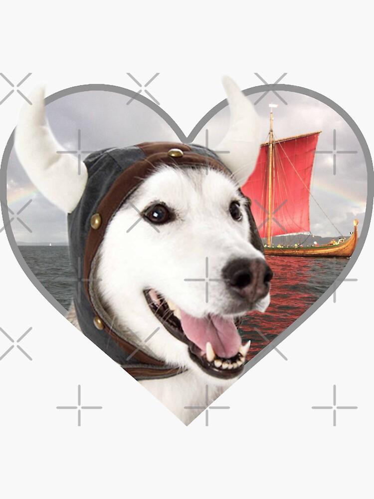 Calcomanías Doggo: Viking Doggo de Elisecv