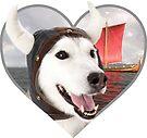 Doggo Stickers: Viking Doggo by Elisecv