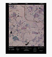 USGS TOPO Map Georgia GA Colemans Lake 20110311 TM Inverted Photographic Print