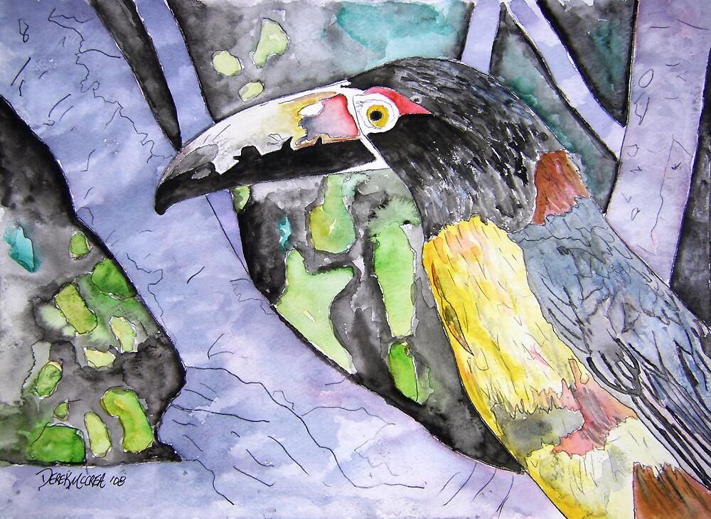 Toucan Bird Painting by derekmccrea