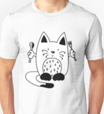 CAT EXPECTING TO EAT Unisex T-Shirt