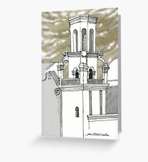 San Xavier Mission East Tower Greeting Card