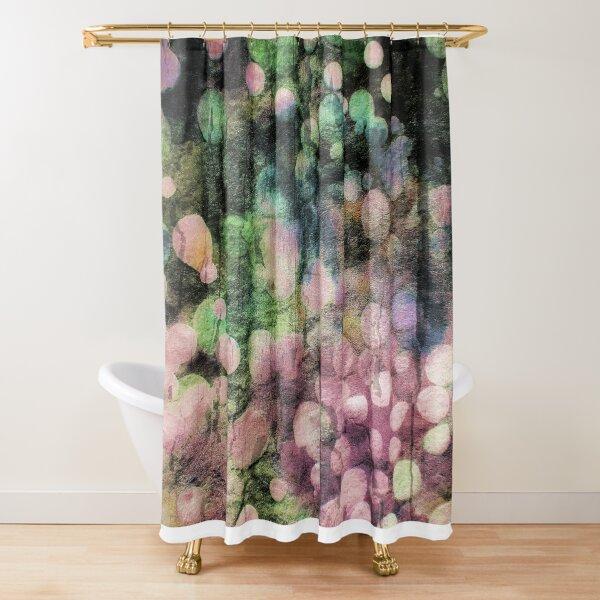 Abstract Batik Bubble Print Shower Curtain