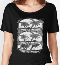 Palm Trees cameo Women's Relaxed Fit T-Shirt