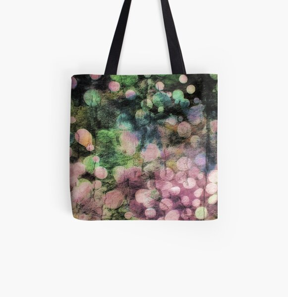 Abstract Batik Bubble Print All Over Print Tote Bag