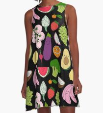 Fruits and vegetables by Elebea A-Line Dress
