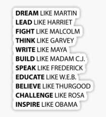 Black Power | Positive Black Men  | African American | Black Lives Sticker