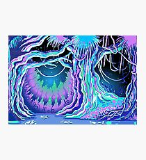 Magic Tale Blacklight Forest Background Photographic Print