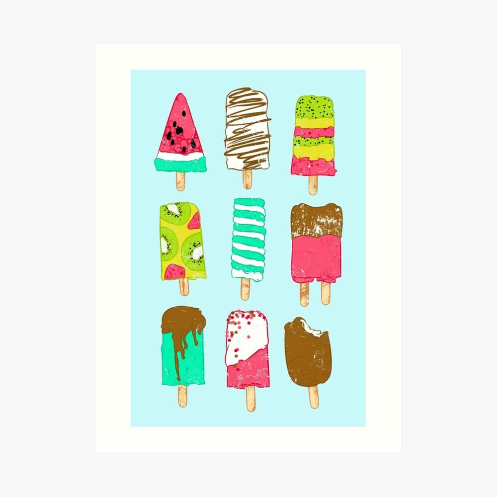 Tiempo de helado Lámina artística