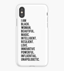 I Am Black Woman   African American   Black Lives iPhone Case/Skin