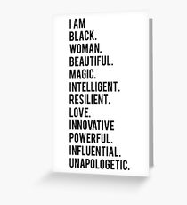 I Am Black Woman | African American | Black Lives Greeting Card