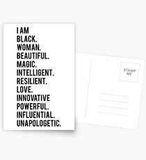 I Am Black Woman | African American | Black Lives Postcards