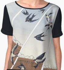 swallows in full company strength Women's Chiffon Top