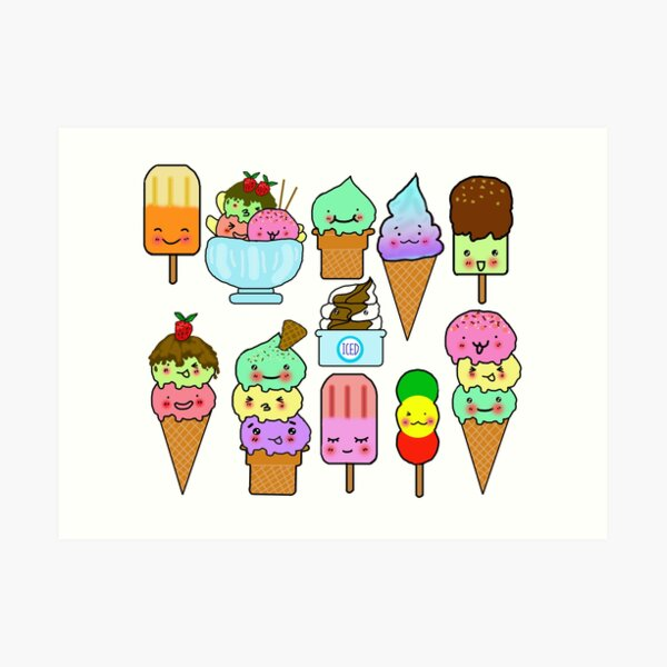 Summer Ice Cream  Art Print