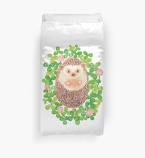 Hedgehog in cloverfield Duvet Cover