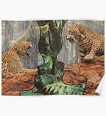 Conflict Depicted by Leopards in the Mind Poster