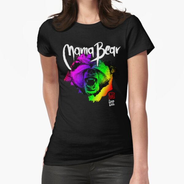 LGBT Mama Bear Mom T Shirt Fitted T-Shirt