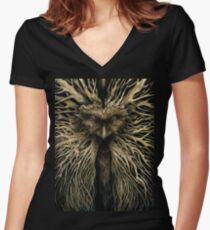 Lord of the Greenwood Women's Fitted V-Neck T-Shirt