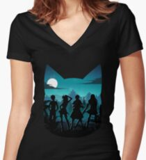 Happy Silhouette Women's Fitted V-Neck T-Shirt