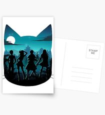 Glückliches Schattenbild Postkarten