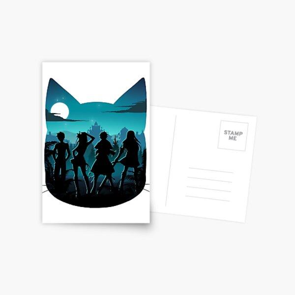 Silhouette heureuse Carte postale