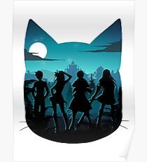 Happy Silhouette Poster