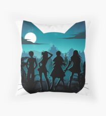 Happy Silhouette Throw Pillow