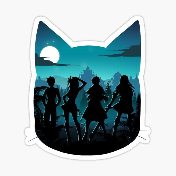 Happy Silhouette Sticker