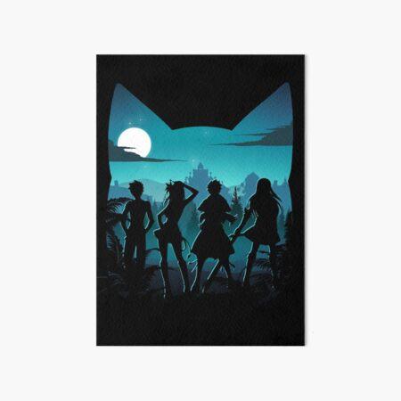 Happy Silhouette Art Board Print