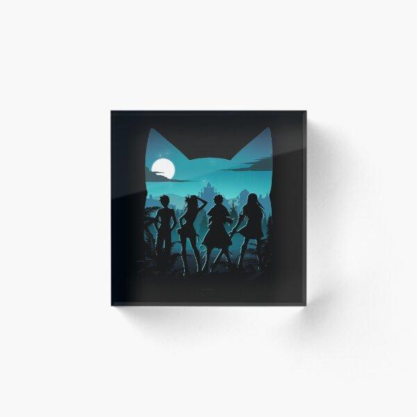 Happy Silhouette Acrylic Block