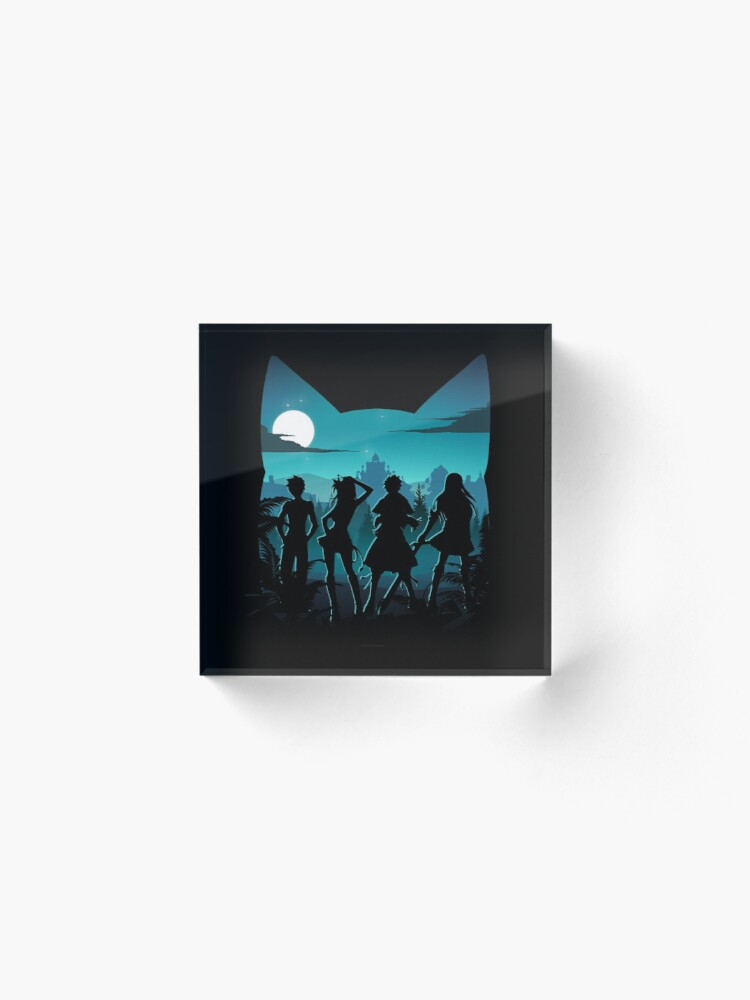 Alternate view of Happy Silhouette Acrylic Block