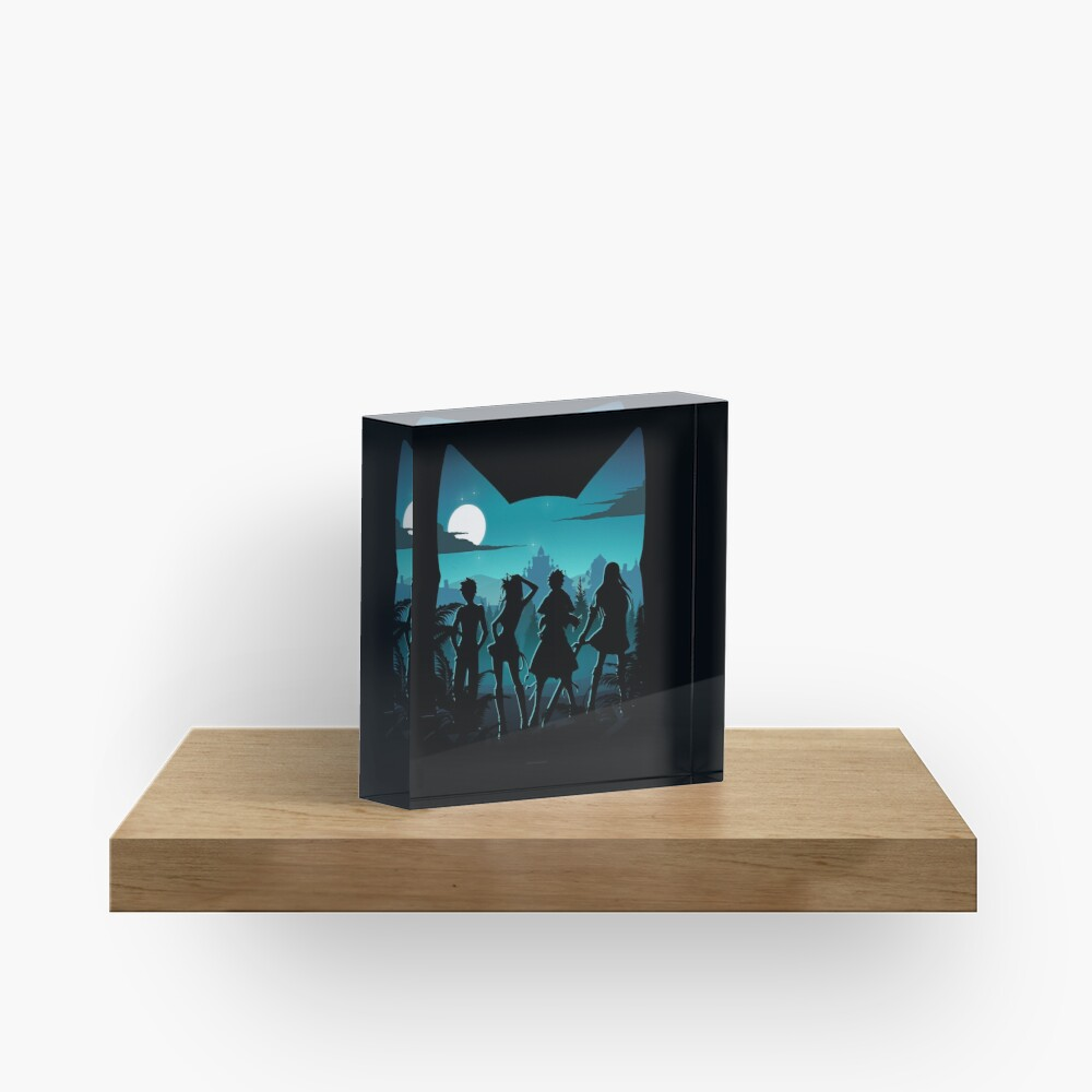 Happy Silhouette Acrylic Block