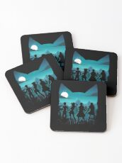 Happy Silhouette Coasters