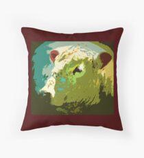 The Fluffy Bull Mr Mister Throw Pillow